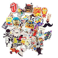 Random Styles Vinyl Stickers, 6 - 12cm (Pack of 100)