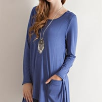 Secret Solid Pockets Tunic