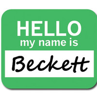 Beckett Hello My Name Is Mouse Pad