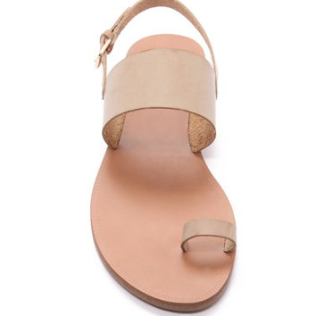 Toe-Ring Faux Leather Sandal | Forever 21 - 2000153371