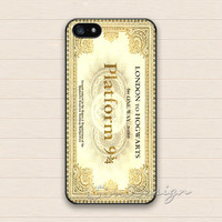 Harry Potter iPhone 5 5s Case,iPhone 4 4s Case,Samsung Galaxy S3 S4 Case,Hogwarts Express Train Ticket Platform 9 3/4 Hard Rubber Cover Case