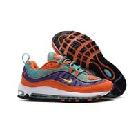 Nike Air Max 98 QS Cone Tour Yellow-Hyper Grape Running Shoes - Best Deal Online