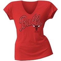 Chicago Bulls - Logo Juniors V-Neck T-Shirt
