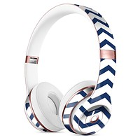 Navy and White Chevron Stripes Full-Body Skin Kit for the Beats by Dre Solo 3 Wireless Headphones