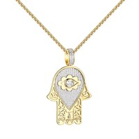 Evil Eye Hamsa Hand Pendant Chain  Sterling Silver Exclusive