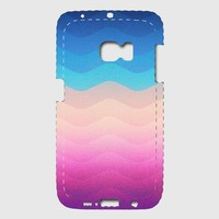 Pride Rainbow Wave (Colorful Geometric) Phone Case Samsung Galaxy S6 Edge Premium Case | Spreadshirt
