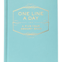 Chronicle Books The One Line A Day Book