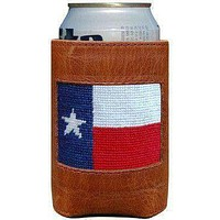 Texas Flag Needlepoint Can Holder by Smathers & Branson