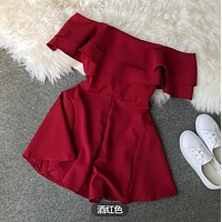 New fashion strapless tube top jumpsuit