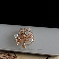 Bling home button sticker for iphone phone charm for by blingcase