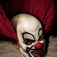 """Posters Slammy the Scary Clown Halloween Window Decoration 34.5""""x60""""  back lit poster"""