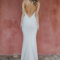 Noel and Jean by Katie May Oh Baby Plunging Lace Trumpet Gown (Nordstrom Exclusive) | Nordstrom