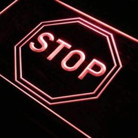 Stop Neon Sign (LED)