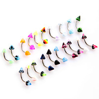 New 20Pcs Barbell Curved Eyebrow Rings Bars Tragus Body Piercing Jewelley Cone Eyebrow Rings
