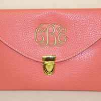 Monogrammed Clutch Purse  Choose from 13 by MadAboutMonograms