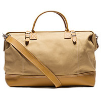 Canvas & Leather Weekend Bag (Tan)