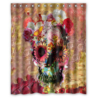 "Sugar Skull Shower Curtain 60"" x 72"" Inches Bathroom decor"