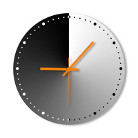 Wall Clock Colorful Gradient Clocks - For Home, For Office, Gift Ideas, Personalized, Customized Wall Clock, Colorful, Interior Design