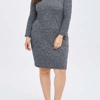 Plus-Size Knitted Casual winter Sweater dress large 5xl, 6Xl