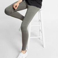 Garment Dyed Pull-on Moto Leggings