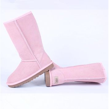 UGG:: bow leather boots boots in tube-13
