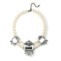 Mirrored Pearl Anna Necklace