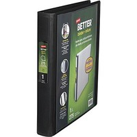 1 Staples® Better® View Binder with D-Rings, Black
