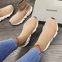 Balenciaga Trainers Sneakers Sock shoes knitting Shoes Brown
