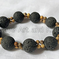 bracelet, bracelet beaded, natural stones, lava stones, gift for women, accessories, gift idea, gift for her, girlfriend gift,