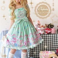 Infanta Dolly House Cotton Sweet Short Sleeve Girls Dress