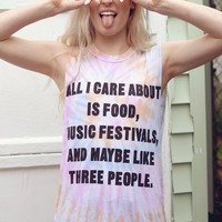 Jac Vanek All I Care About Muscle Tee