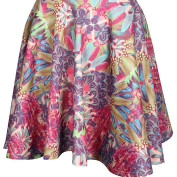 Juliana Tropical Print Skater Skirt