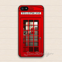 London Telephone Box iPhone 5 5s Case,iPhone 4 4s Case,iPhone 5C Case,Samsung Galaxy S3 S4 S5 Case,British Telephone Booth Hard Rubber Cover