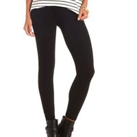 Seamless Cable Knit Leggings by Charlotte Russe - Black
