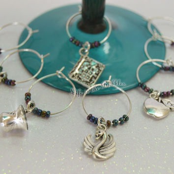 Once Upon a Time 8 Magical Wine Charms, For Your Own Storybrooke or Enchanted Forest