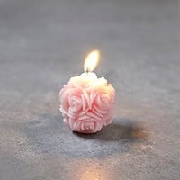 Small Floral Candle