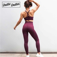 Seamless Sport Yoga Set For Women Fitness Clothing Gym Yoga Leggings Fitness Padded Sport Bra Yoga Set Active Wear Sport Suits