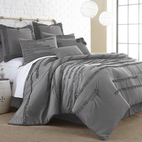 Colonial Textiles Collette Comforter Set in Grey