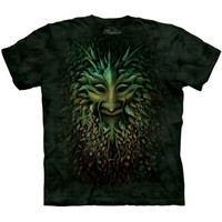 GREENMAN Face The Mountain Celtic Irish Forest Green Man Weed T-Shirt S-3XL NEW