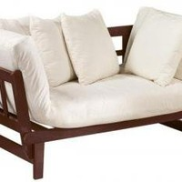 White Mission-Style Convertible Lounge - Love Seats - Living Room Furniture - Furniture   HomeDecorators.com