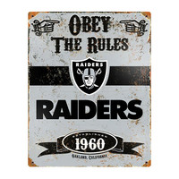 NFL Oakland Raiders The Party Animal Vintage Metal Sign