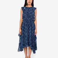 Dorothea Dress in Indigo