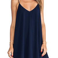 Navy Cami Swing Chiffon Dress
