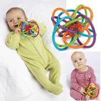 Baby Toy Fun Little Loud Bell Ball Baby ball toy rattles Develop Baby Intelligence Baby Grasping toy Plastic Hand Bell Rattle