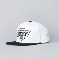 Flatspot - Obey The Great One Snapback Cap White / Black