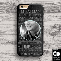 Supernatural Dean Winchester case for iphone 5s 6s case, samsung, ipod, HTC, Xperia, Nexus, LG, iPad Cases