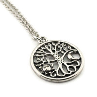 Sun and Moon Tree of Life Necklace