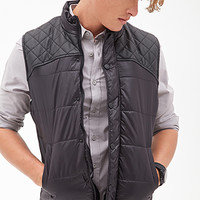 Quilted Puffer Vest Black