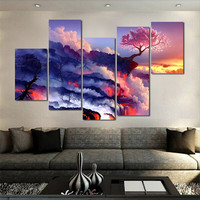 5pc/set large canvas painting pictures on the wall print paintings home decor ca