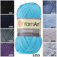 Yarnart BEGONIA, %100 cotton yarn, knitting yarn, crochet cotton yarn, knitting supplies, knit yarn, baby clothes, thread, yarn sweaters
